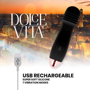 Δονητής Dolce Vita Vibrator Three 10 Speed επαναφορτιζόμενος μαύρος