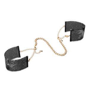 Desir χειροπέδες μεταλικές μαύρες Mesh Handcuffs