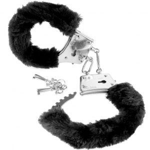 Χειροπέδες μεταλικές με γουνάκι Fetish Fantasy Furry Cuffs Black