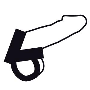Δαχτυλίδι πέους BDSM  δερμάτινο