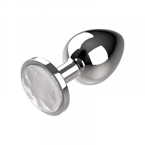 Πρωκτική μεταλική τάπα/σφήνα άσπρη Coquette Anal Plug Metal Size S 2.7x 8cm