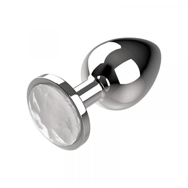 Πρωκτική μεταλική τάπα/σφήνα άσπρο Coquette Anal Plug Metal Size S 2.7x 8cm