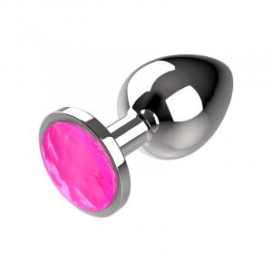 Πρωκτική μεταλική τάπα/σφήνα ροζ Coquette Anal Plug Metal Size S 2.7x 8cm
