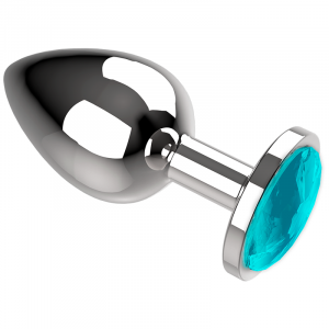 Πρωκτική μεταλική τάπα/σφήνα μπλε Coquette Anal Plug Metal Size L 4 X 9CM