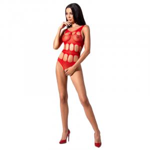 Εκπληκτικό και απίστευτα σέξι ανοιχτό Ολόσωμο Καλσόν PASSION WOMAN BS083 TEDDY - κόκκινο με σέξι κεντήματα One Size.